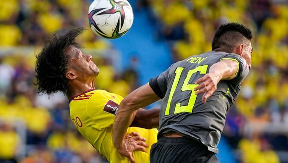 Colombia y Ecuador empataron a cero por las Eliminatorias Qatar 2022. (Foto: AFP)