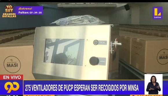 Los ventiladores mecánicos del proyecto MASI aún no son recogidos por el Ministerio de Salud. (Latina)
