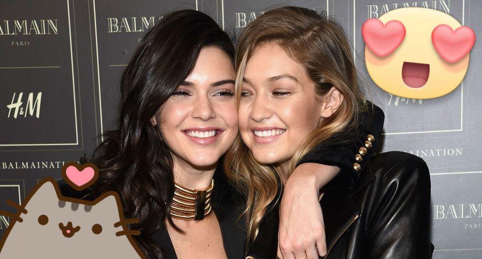 Kendall Jenner estuvo muy feliz por el cumpleaños de su amiga. (Composición: Trome.pe / Fotos: AFP)