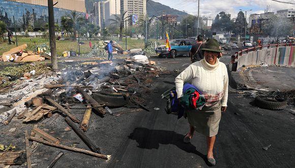 La capital de Ecuador empieza a sufrir desabastecimiento por las violentas jornadas de protestas. (Foto: AFP)