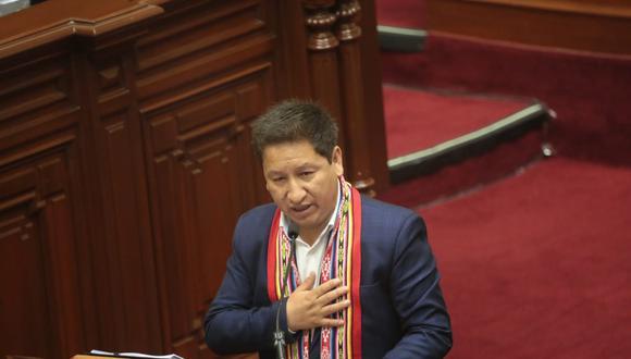 El primer ministro, Guido Bellido, solicitó el voto de confianza en el Congreso de la República. (Foto: PCM)