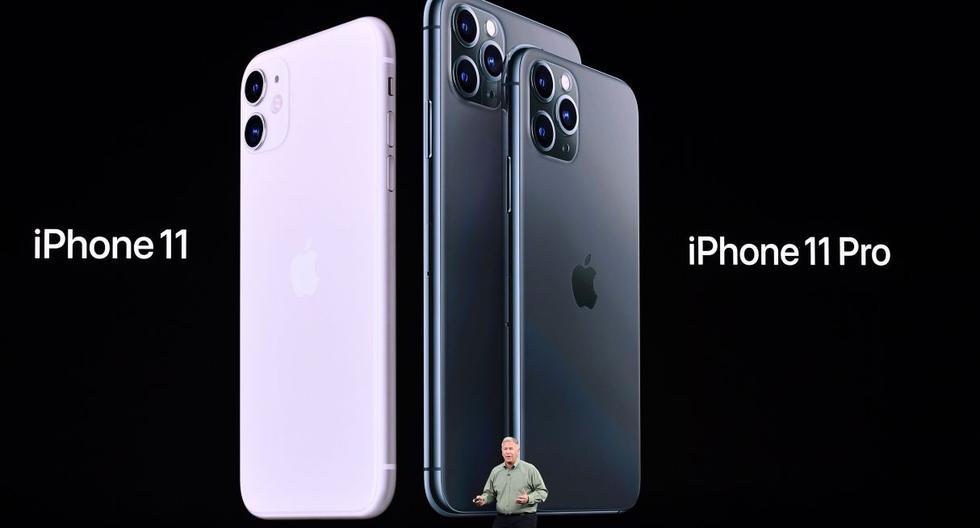 Como en el caso de la versión más sencilla del nuevo iPhone, las lentes se encuentran en un marco cuadrado, lo que ha hecho cambiar ligeramente el diseño clásico de estos teléfonos. (Foto: AFP)