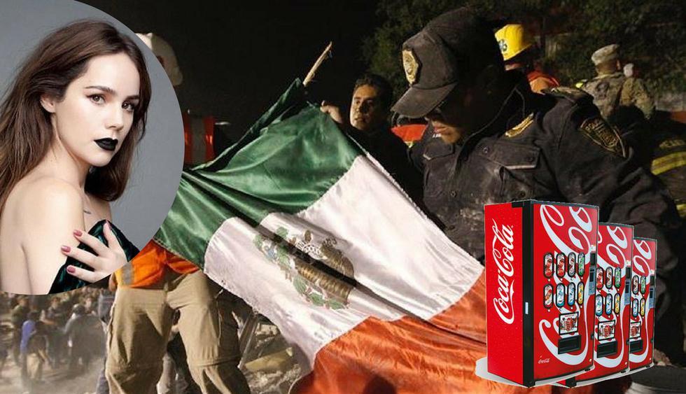 1. Camila Sodi acusó a Coca Cola de aprovecharse de los afectados tras el terremoto en México