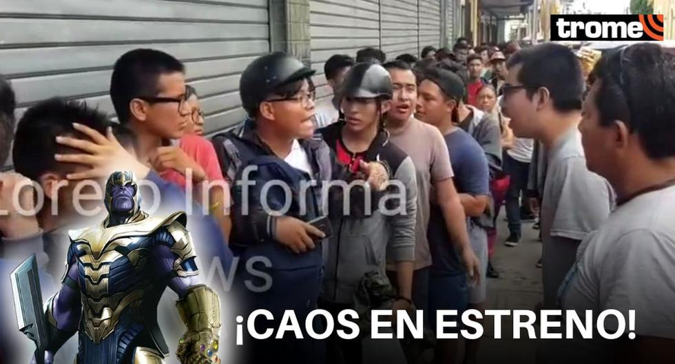"""Avengers: Endgame"": Fans se pelean en cola de cine para ver película en Iquitos | VIDEO"