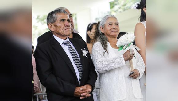 Abuelitos de 25 nietos se casaron en San Valentín tras medio siglo de convivencia | Difusión | TROME