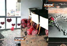 Julio Guzmán: Tras incendio, así quedó el departamento decorado con velas y corazones para almuerzo con abogada