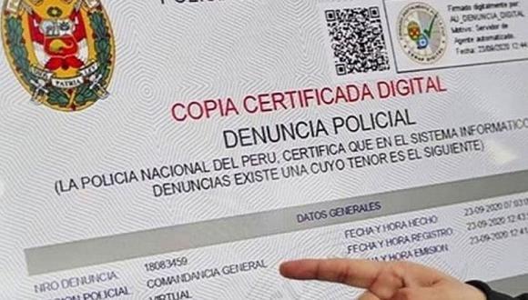 El servicio de denuncia digital es gratuito, pero si desea una segunda copia si deberá realizar un pago. (Foto: Andina)