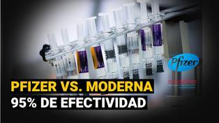 Vacunas contra COVID-19: Pfizer y Moderna, las vacunas con mayor efectividad