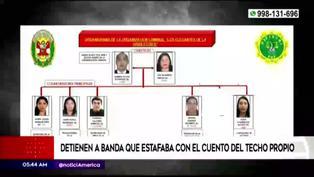 """Huánuco: PNP desarticulan banda criminal que estafaba a personas con el cuento del """"Techo propio"""""""