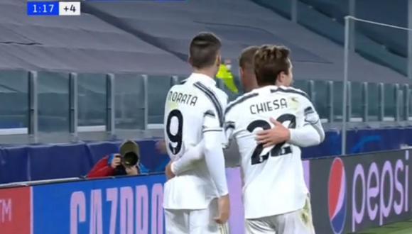 Álvaro Morata lleva 5 goles con Juventus en la presente edición de la Champions League