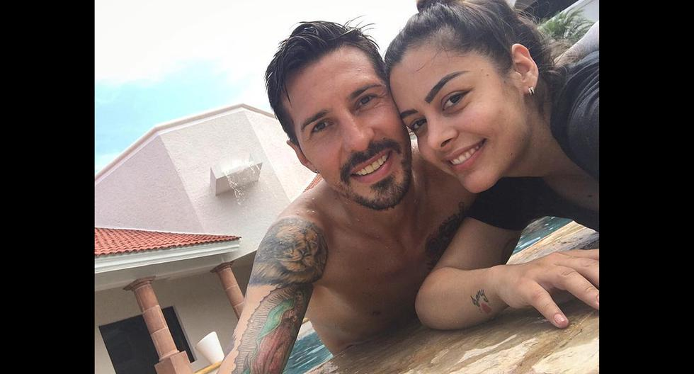 Larissa Riquelme y Jonathan Fabbro llevan 8 años de relación amorosa a pesar de acusaciones de violación que pesan sobre el exfutbolista. (Fotos: Instagram)