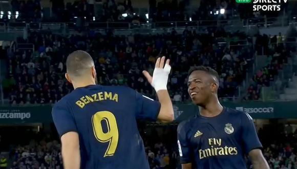 Gol de Karim Benzema en Real Madrid vs Real Betis por Liga Santander