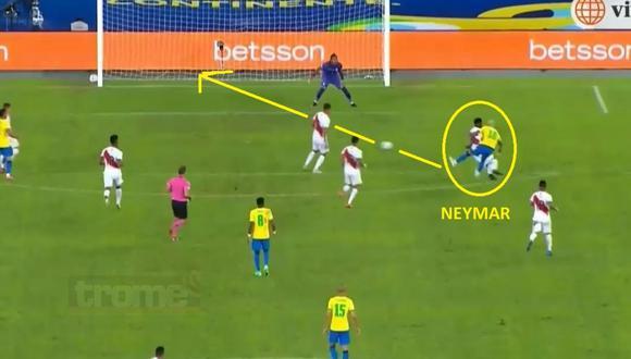 Neymar intratable en el Perú vs Brasil (Captura)