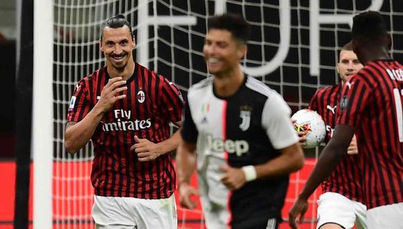 El diálogo entre Cristiano Ronaldo y Zlatan Ibrahimovic en pleno partido. (Foto: AFP)