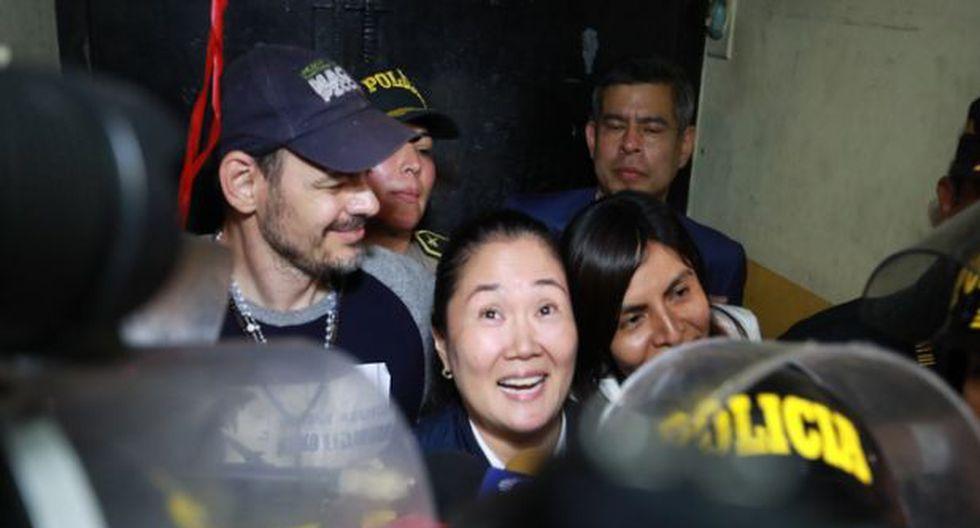 Keiko Fujimori declaró tras salir de prisión. (Foto: Lino Chipana/GEC)