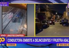 Comas: conductora embistió mototaxi para escapar de asaltantes que la interceptaron | VIDEO
