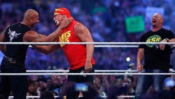 Hulk Hogan, 'Stone Cold' y 'The Rock' juntos, pero en 'The Expendables 4' (Foto: WWE)