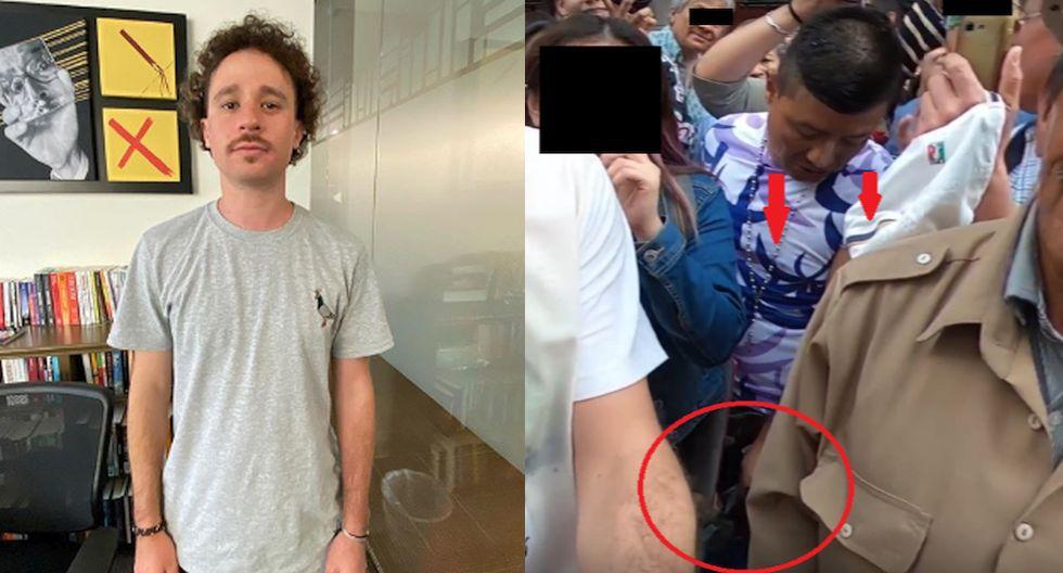 Depravado se puso a grabar debajo de la falda de una joven en video de Luisito Comunica. (Instagram/YouTube)