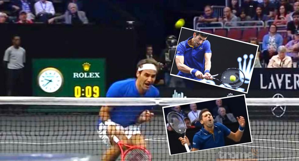 Este fue el divertido blooper de Novak Djokovic durante el duelo de dobles con Roger Federer.