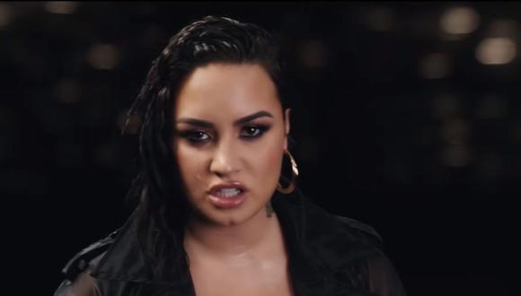 """Demi Lovato cantó """"Commander In Chief"""" en los Billboard Music Awards. (Foto: Captura de pantalla / YouTube)."""