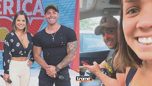 Andrea San Martín y Sebastián Lizarzaburu viven luna de miel en Miami