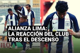 Alianza Lima: así reaccionó el club blanquiazul tras descender a la Liga 2