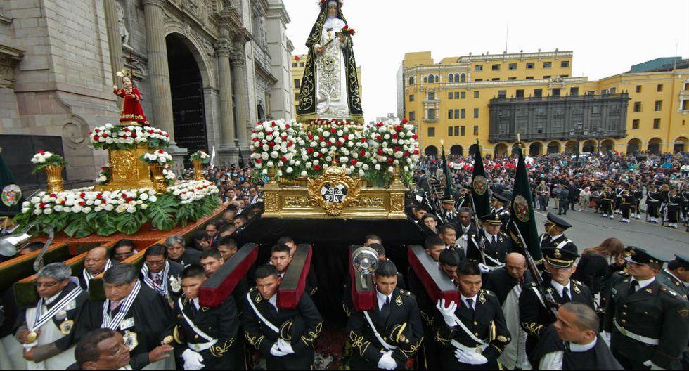 Empiezan los triutos a Santa Rosa de Lima, patrona de América, Filipinas e Indias Occidentales. También es patrona de la Policía Nacional del Perú. (Foto: PNP / Andina)