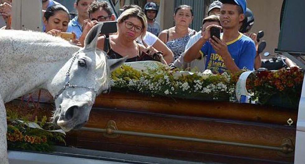 Las lágrimas cayeron en este video viral de Facebook en el que este caballo le da el último adiós a su jinete tras largos años de amistad. (Foto: Caters News Agency)