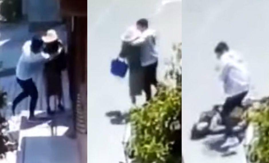 Captan instante en el que predicadora es asaltada violentamente cuando esperaba fuera de una casa (TROME)