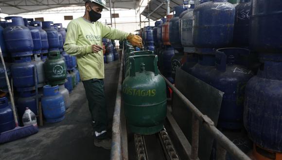 Precio del balón de gas baja en el país. (Foto: GEC)