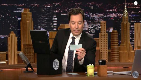 Jimmy Fallon en su programa 'The Tonight Show'. (Captura de YouTube).