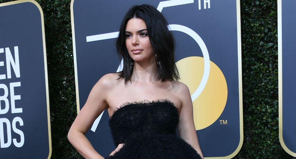 Kendall Jenner estuvo en la gala de los Globos de Oro. (AFP)