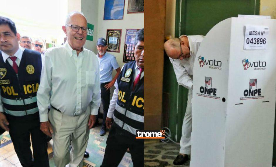 PPK sale de su arresto domiciliario para votar en colegio de San Isidro | GEC | TROME