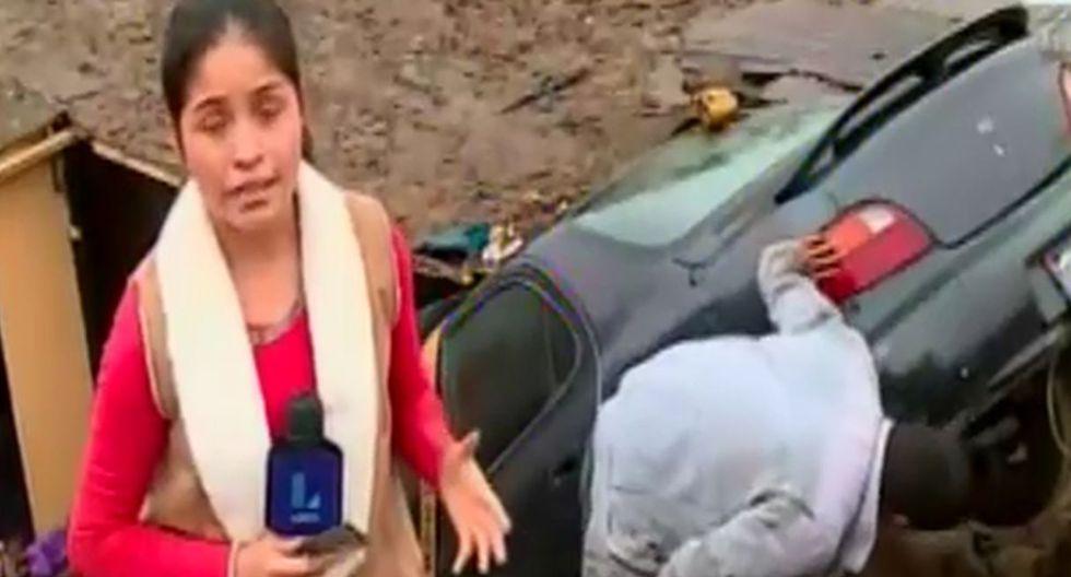 Auto cae en vivienda en el Callao. Foto: Captura de pantalla de Latina