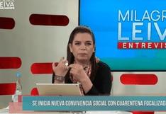 Milagros Leiva: Critican a periodista por pedirle a ministra de la Mujer que se quite la mascarilla en entrevista