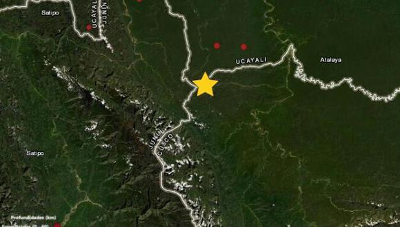 Ucayali: sismo de magnitud 4.8 remeció la ciudad de Atalaya (Foto: IGP)