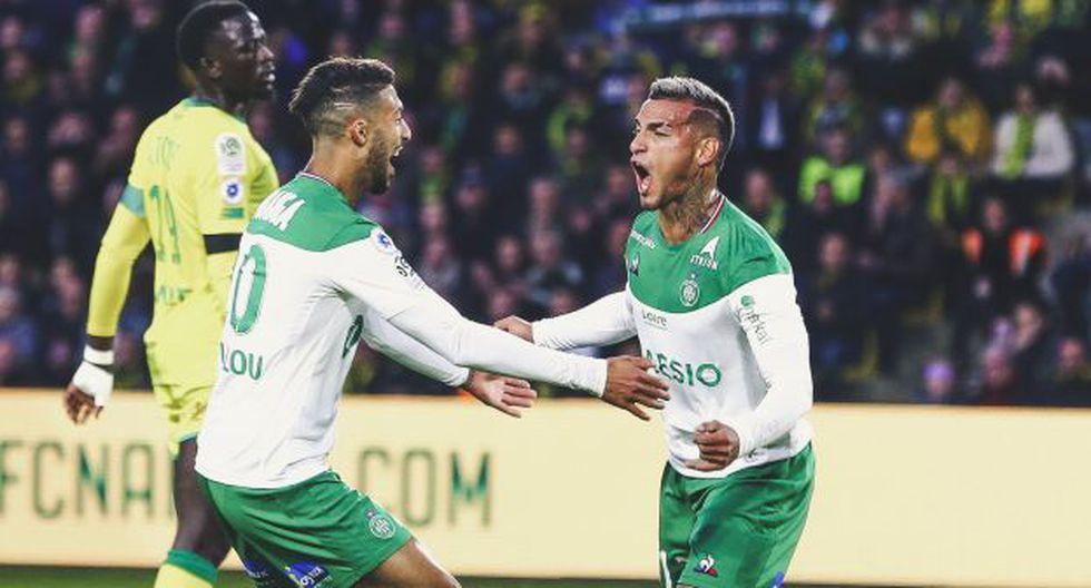 Miguel Trauco ha participado en ocho partidos del Saint Étienne en la Ligue 1. (Foto: AFP)
