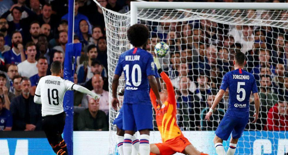 Chelsea vs Valencia: Así fue el gol de Rodrigo. (Agencias)