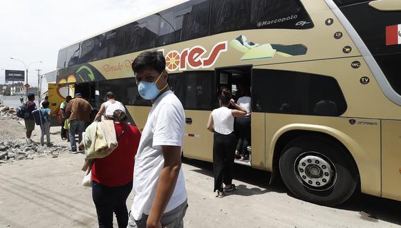Buses interprovinciales aún no levantan en esta pandemia