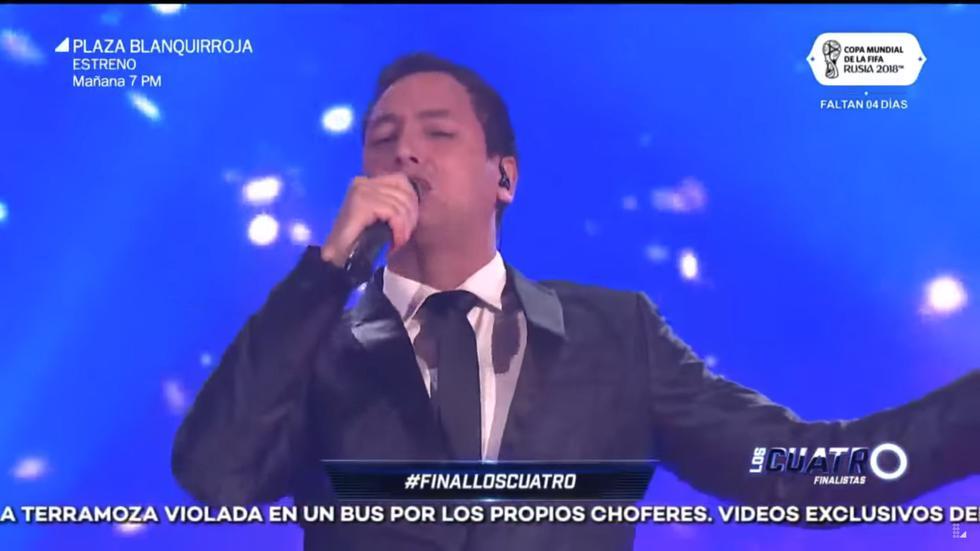 Javier Arias fue el ganador en Los 4 finalistas. (Captura)