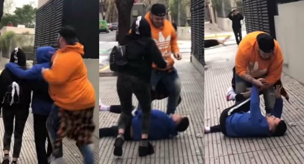 Youtuber ataca a su colega por la espalda, le da brutal golpiza en plena calle y lo graba todo