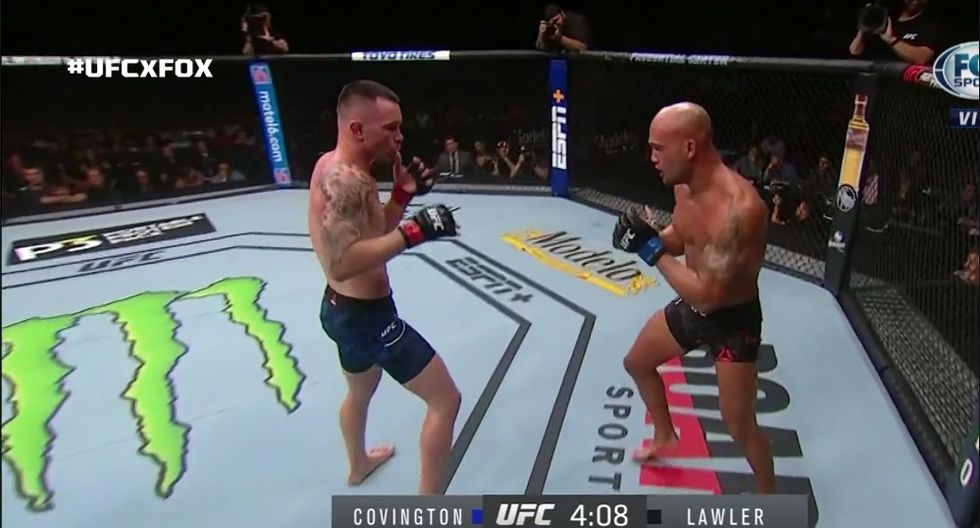 Fue una clara victoria de Covington. (Captura TV)