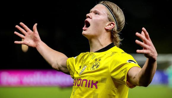 Erling Haaland tiene contrato con Borussia Dortmund hasta junio del 2024. (Foto: Agencias)