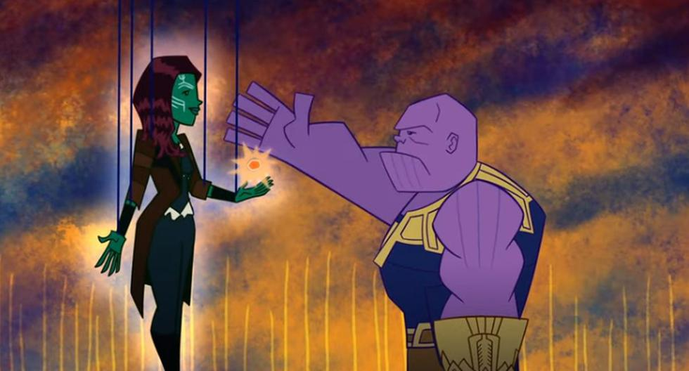 """Marvel Studios reveló escenas falsas de """"Infinity War"""" y """"Endgame"""" en formato animado. (Foto: Captura de YouTube)"""