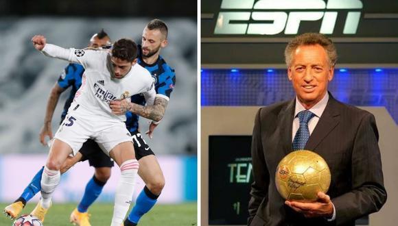 Esto pasó con el comentarista Quique Wolff de ESPN en pleno Real Madrid vs Inter