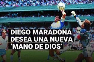 """Diego Maradona desea otro gol con la mano, como ante Inglaterra: """"Con la derecha esta vez"""""""