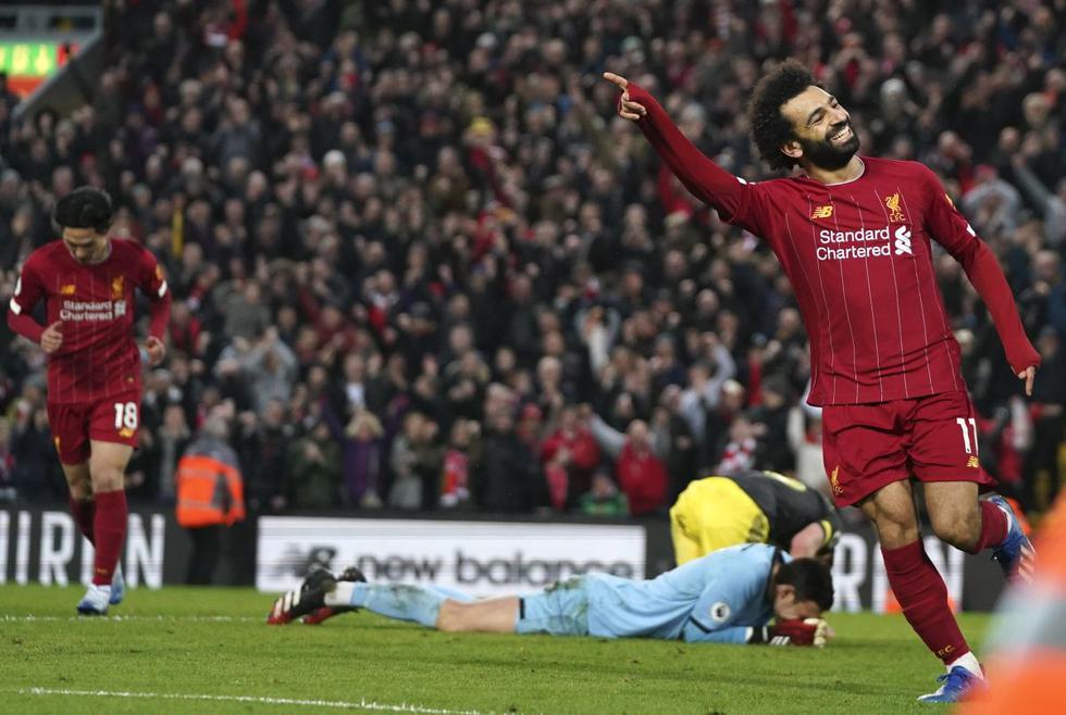 Goles y doblete de Salah: El Faraón acertó a un toque por partida doblete en triunfo de Liverpool