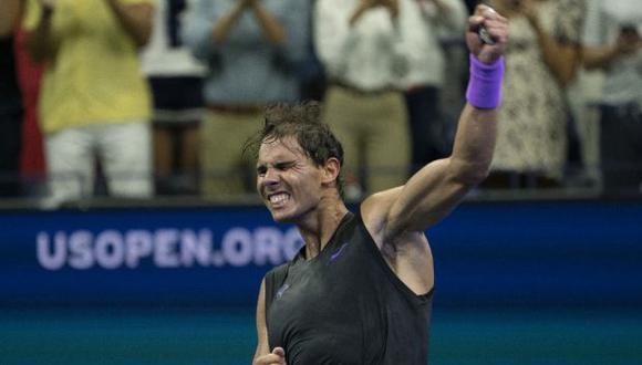 Nadap superó al ruso Daniel Medvedev en la épica final del US Open 2019. (Foto: AFP)