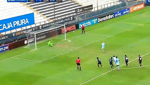 Marcos Riquelme aseguró triunfo para Cristal (captura)