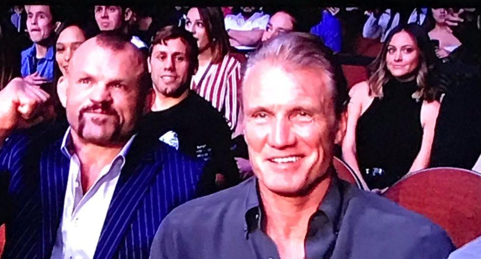 Dolp Lundgren fue parte del gran fin de año del UFC. (Redes sociales)